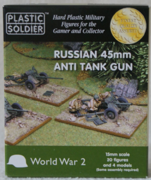 Plastic Soldier G15001 15mm WW2 Russian 45mm Anti Tank Guns